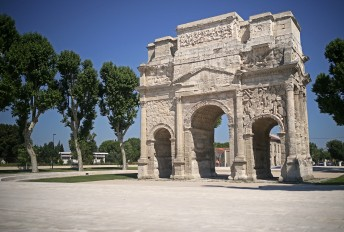 "The Roman theatre and its surroundings and the ""Triumphal Arch"" of Orange"