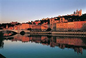 Lyon, les bords de la Saône © Jean-Jacques Gelbart